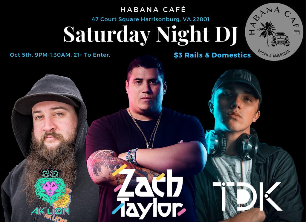 Saturday night DJ flyer